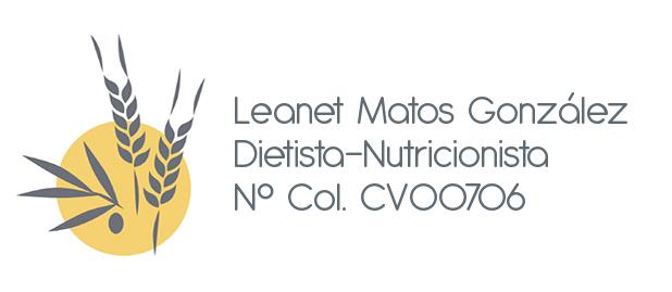 Leanet Matos. Graduada en Nutrición Humana y Dietética.